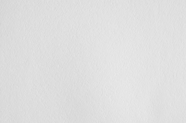 white wrinkled watercolor paper texture. - grainy stock photos and pictures