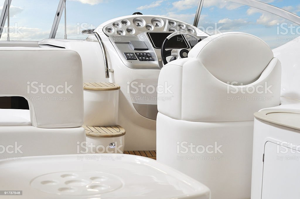white yacht stock photo