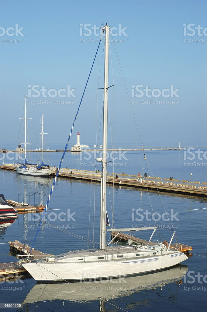 White yacht royalty-free stock photo