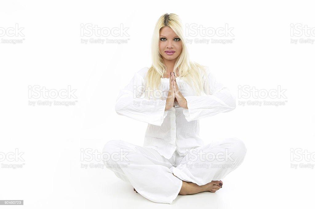 White yoga royalty-free stock photo