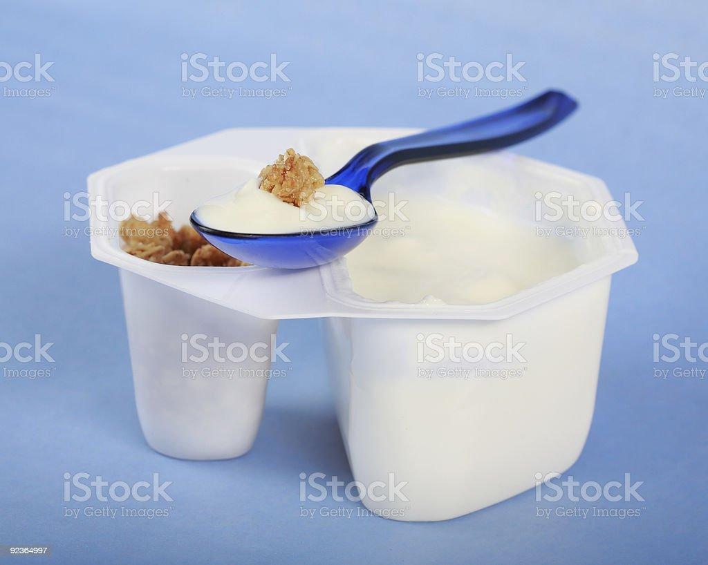 White yogurt royalty-free stock photo