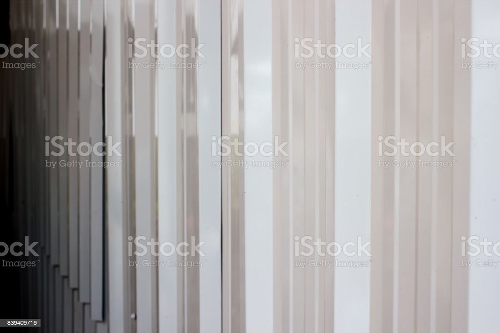 White zinc wall pattern texture. Abstract background with copy space. stock photo