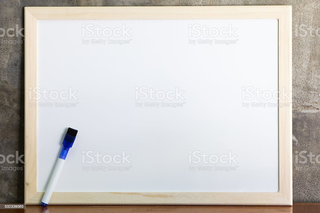 Whiteboard and marker stock photo