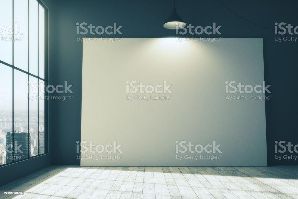 Whiteboard op kamer royalty free stockfoto