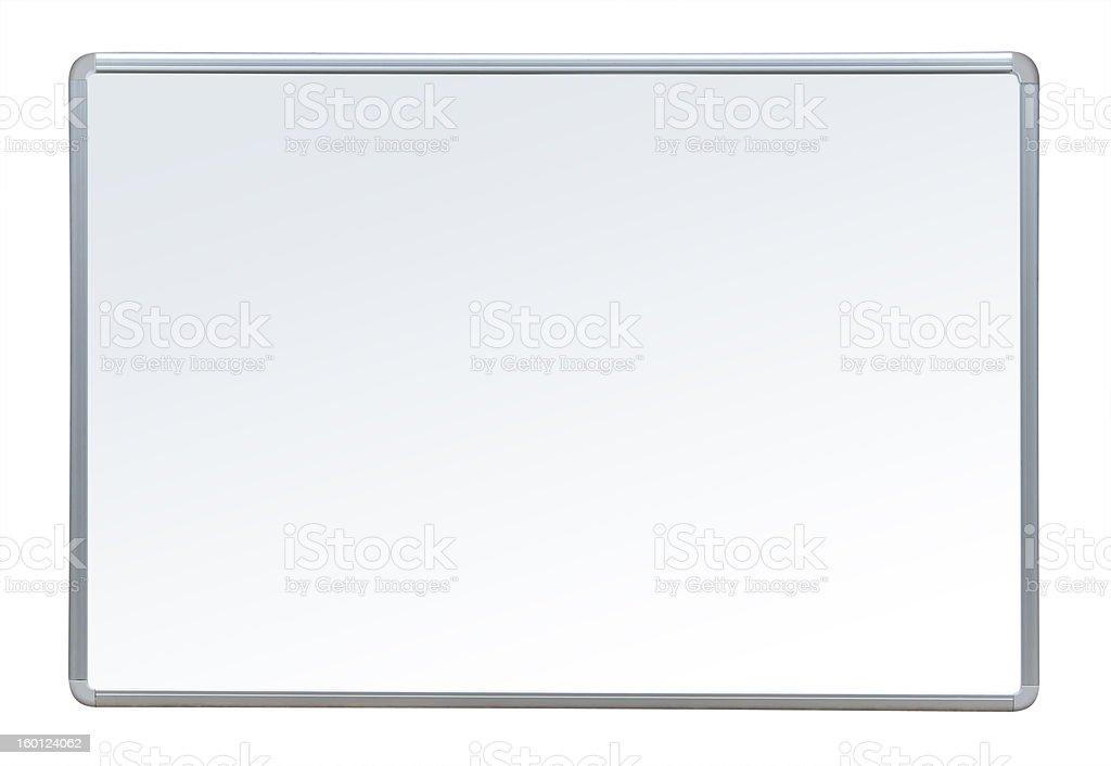 Whiteboard, isolated stock photo