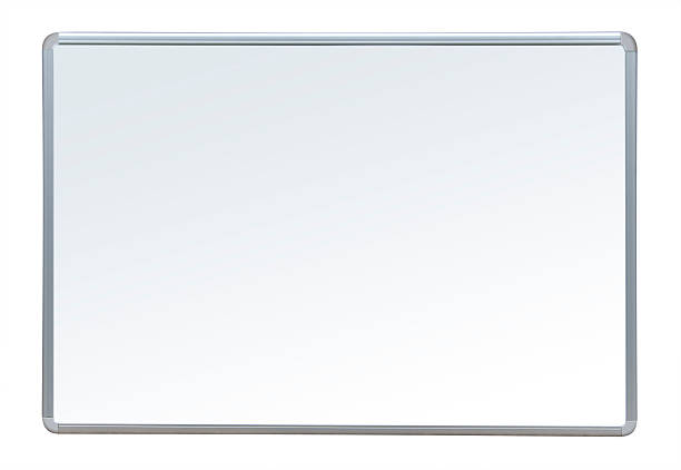 Quadro branco, isolado - foto de acervo