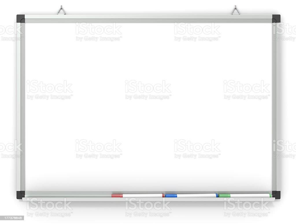 Whiteboard. stock photo