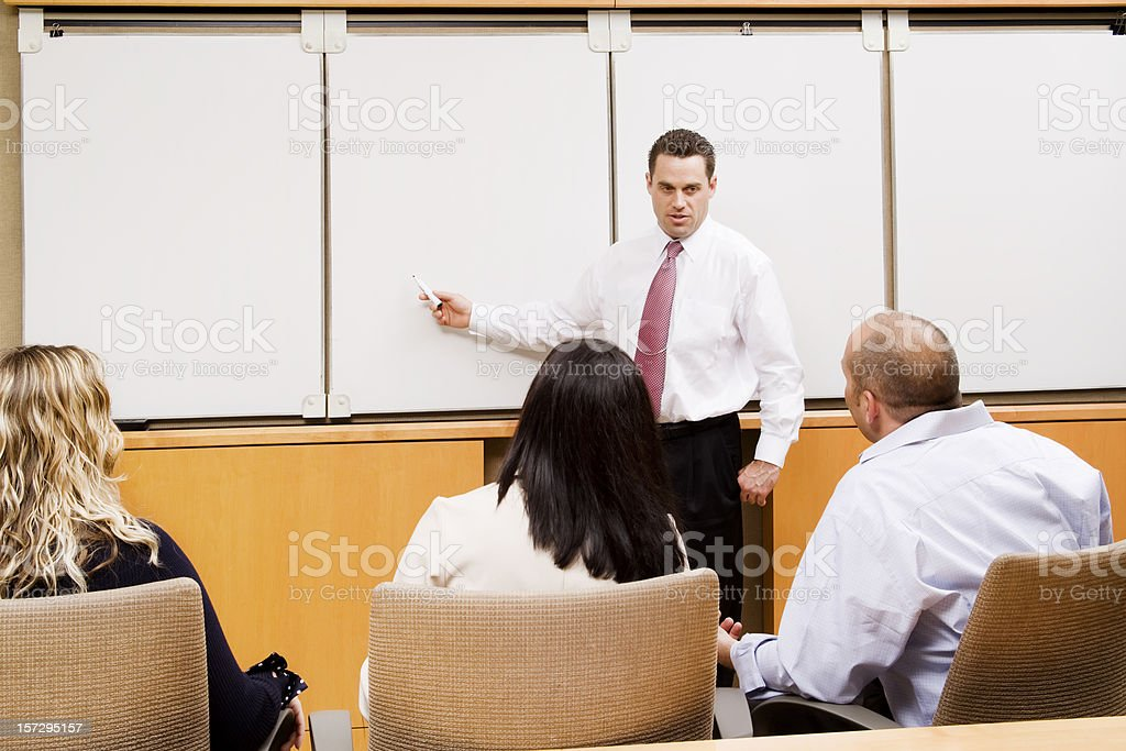 Whiteboard Session royalty-free stock photo