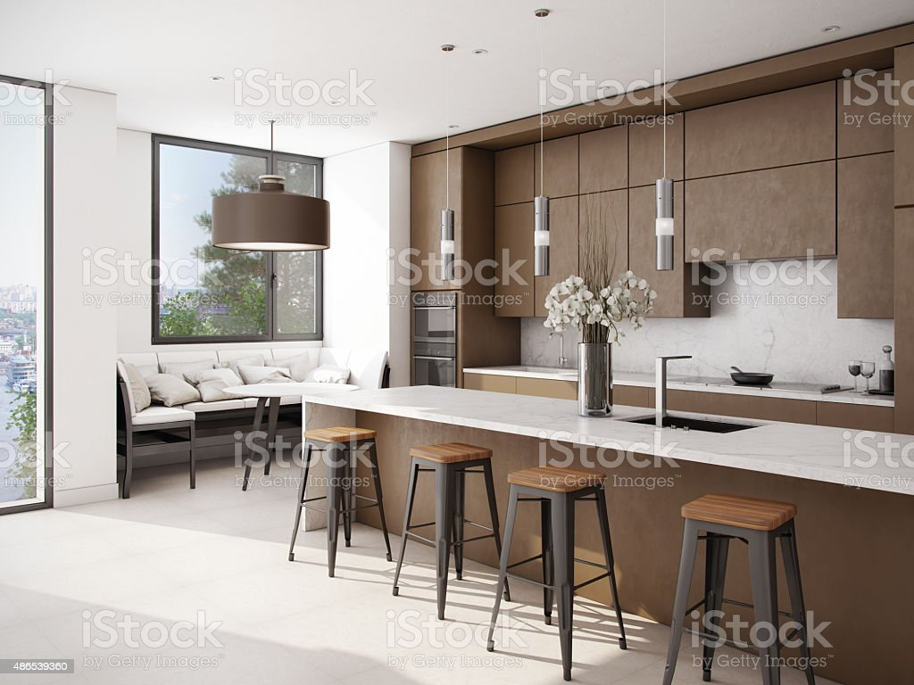 Weißbraun Farbe Küche Stock-Fotografie und mehr Bilder von 2015 | iStock