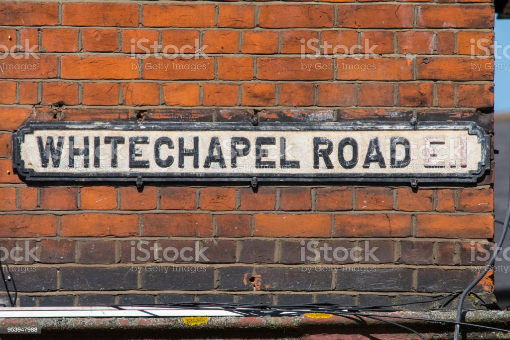 Whitechapel Road in London, UK stock photo