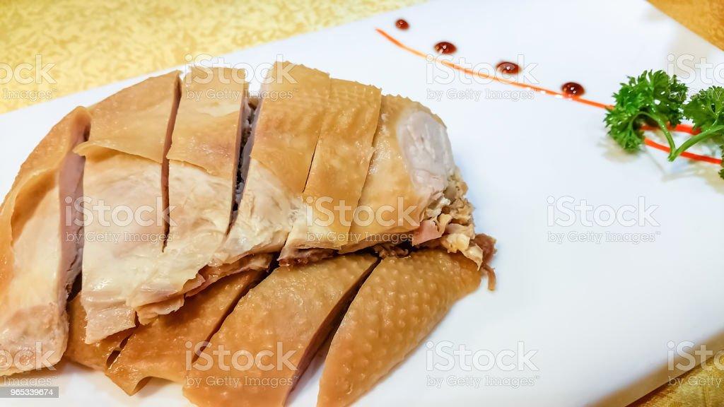 White-cut, cold-cut or poached chicken dish (Bai Qie ji) zbiór zdjęć royalty-free