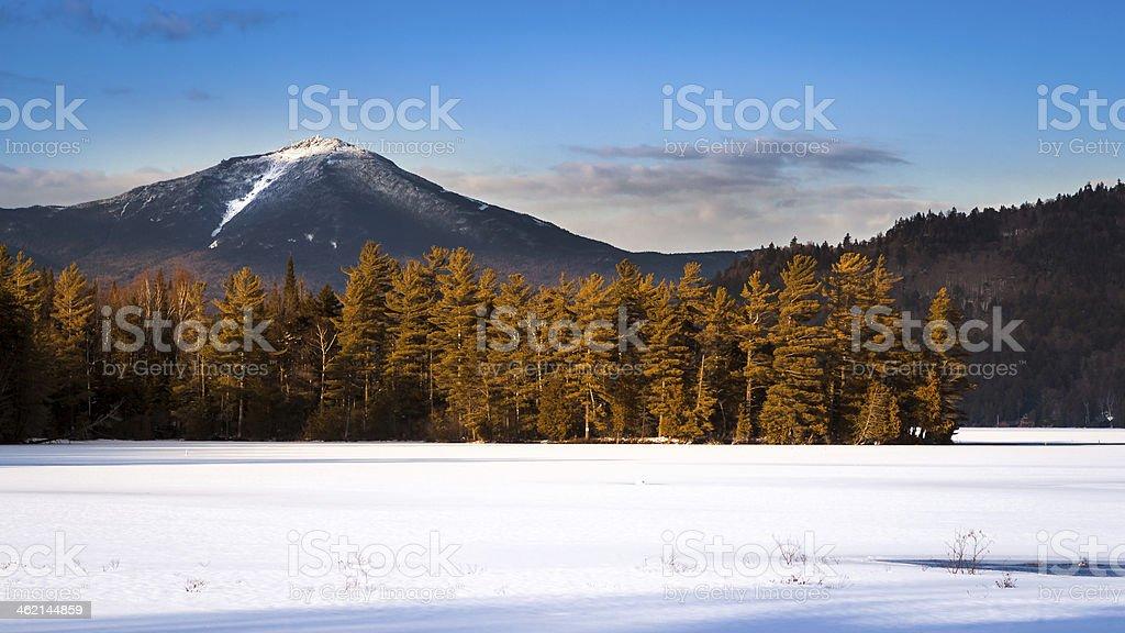 Whiteface mountain peak stock photo