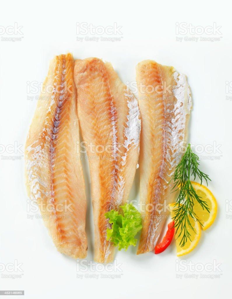 Whitefish fillets royalty-free stock photo