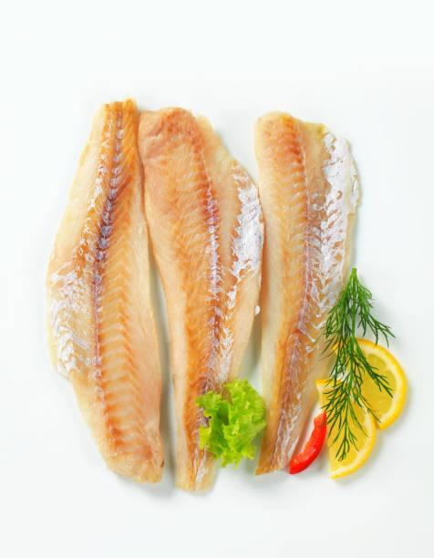 Whitefish fillets stock photo
