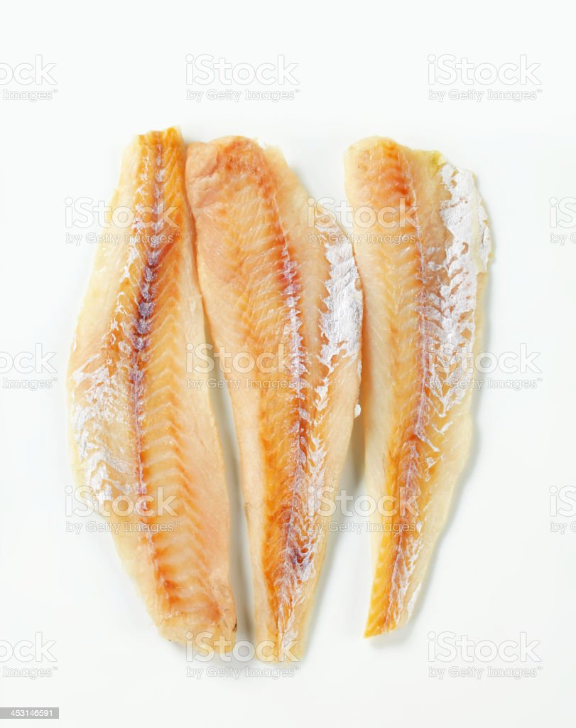 Whitefish fillets stock photo