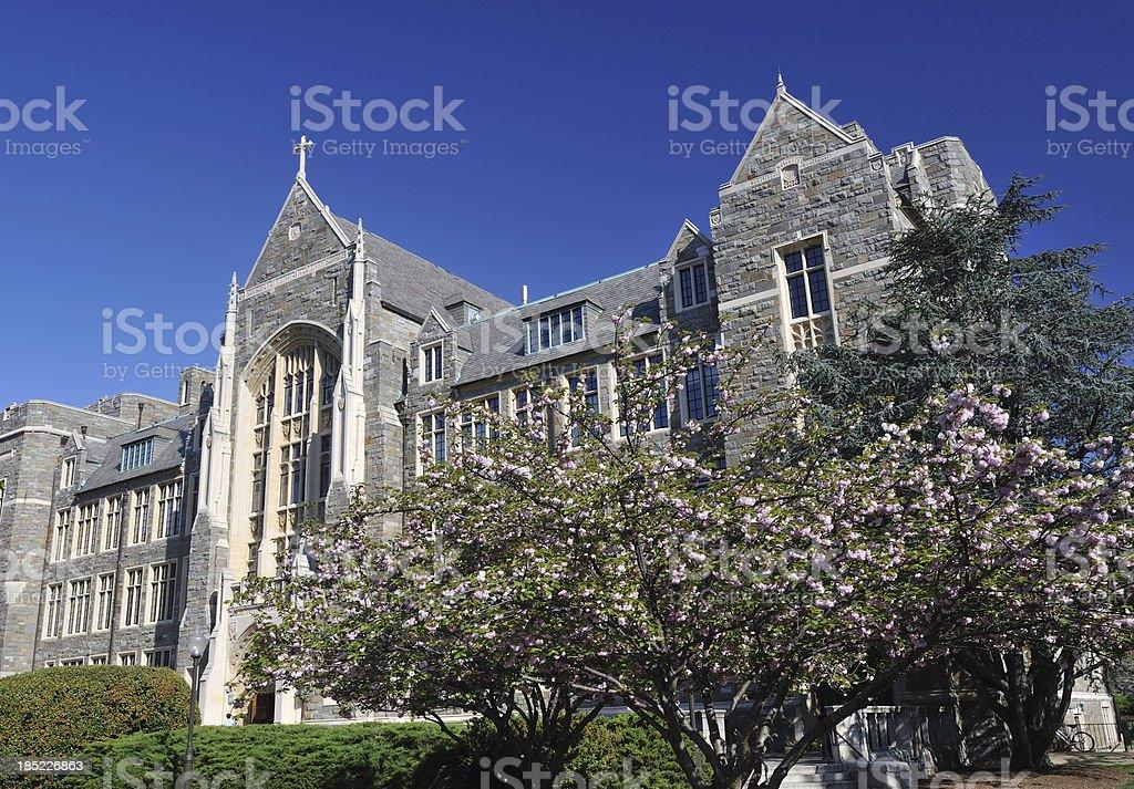 White-Gravenor Hall in Georgetown University stock photo