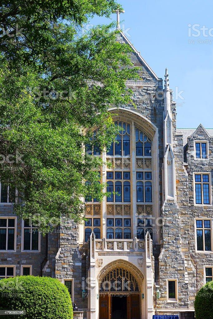 White-Gravenor Hall of Georgetown University, Washington DC, USA. stock photo
