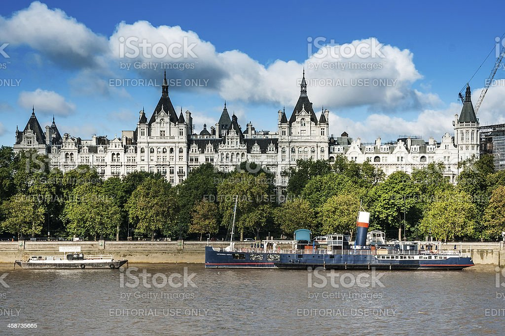 Whitehall Court in London stock photo