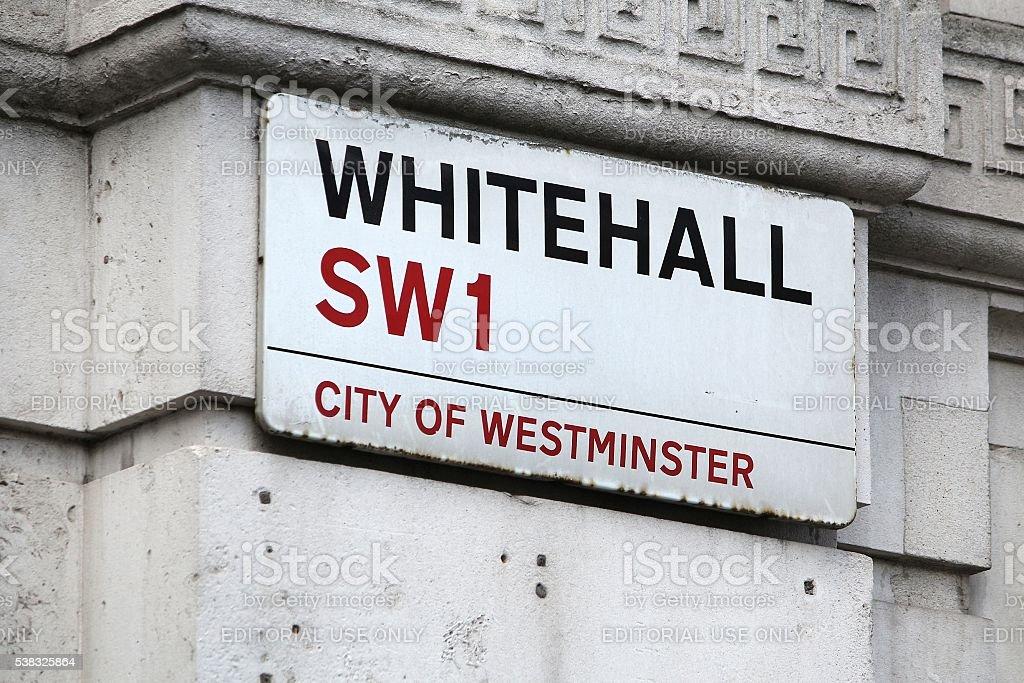 Whitehall, London stock photo