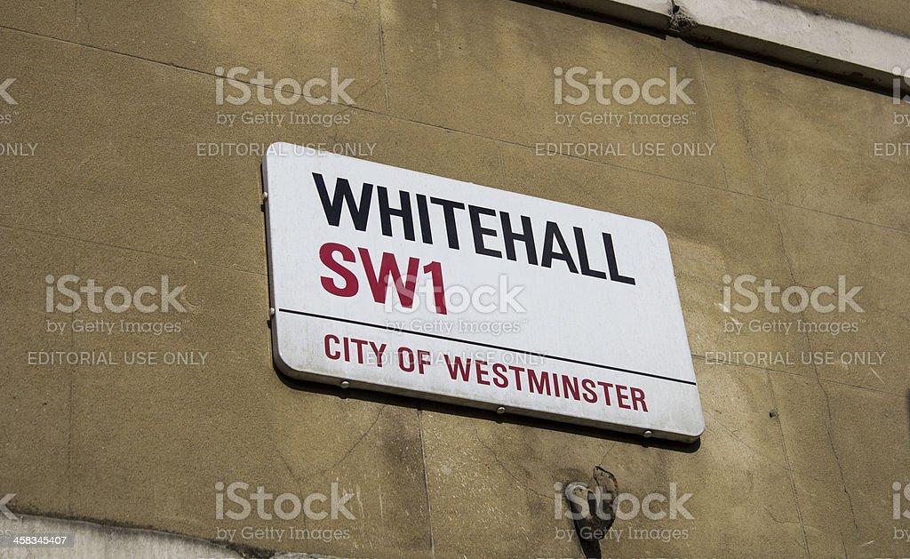 Whitehall street sign stock photo
