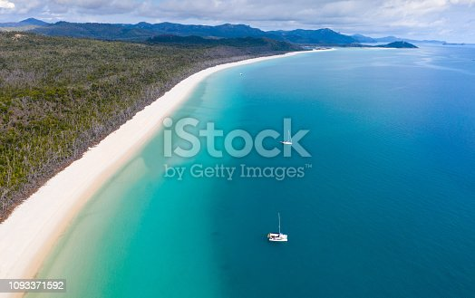 istock Whitehaven Beach - North Queensland aerial view of one of the most famous beaches in the world. 1093371592