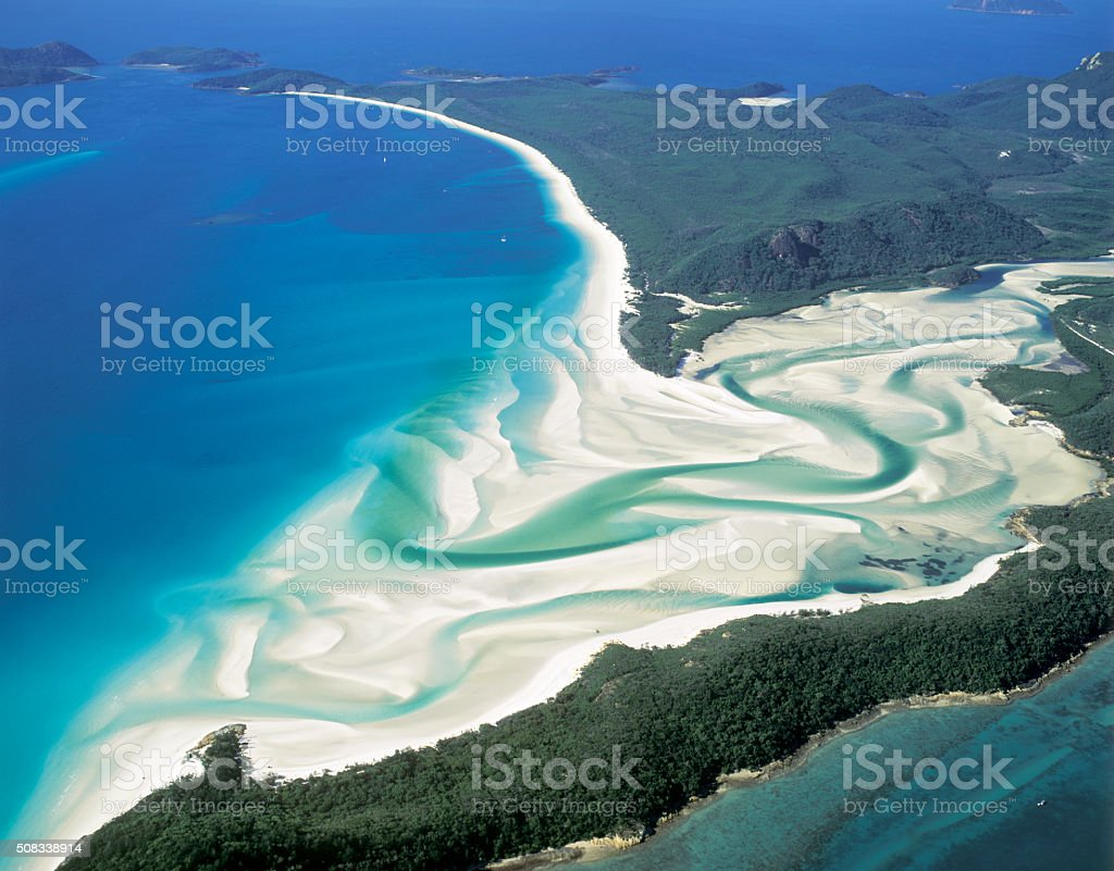 Whitehaven Beach stock photo