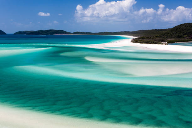 whitehaven beach, whitsunday islands - stephen lynn stock pictures, royalty-free photos & images