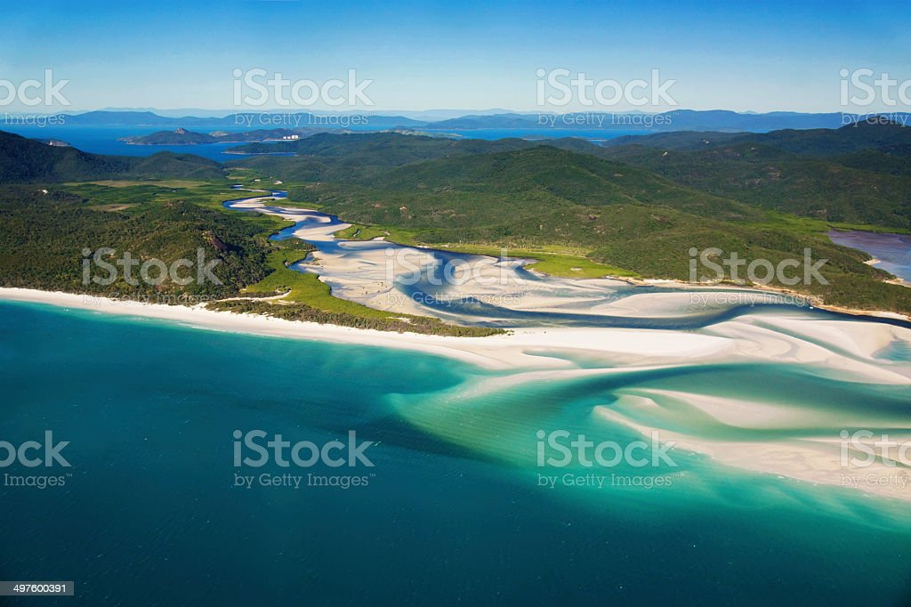 Whitehaven Beach, Whitsundays stock photo