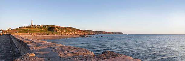 Whitehaven Coastline Sun Setting stock photo