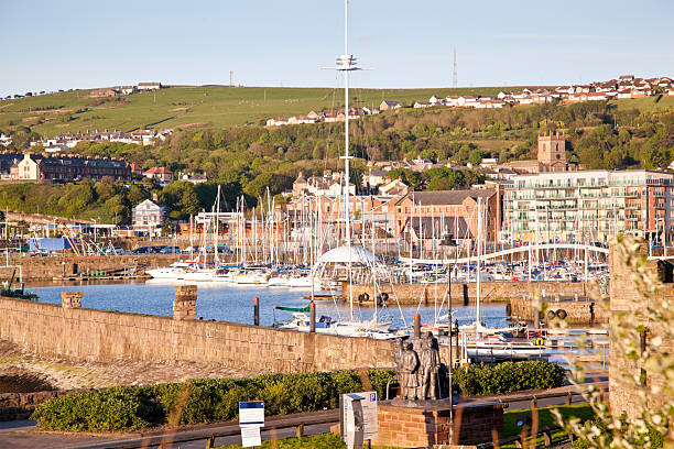 Whitehaven Marina  cumbria stock pictures, royalty-free photos & images