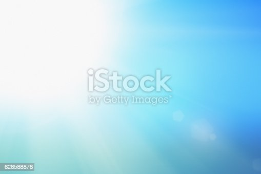 istock White-hot sun on pale blue sky: it's perfect weather 626588878