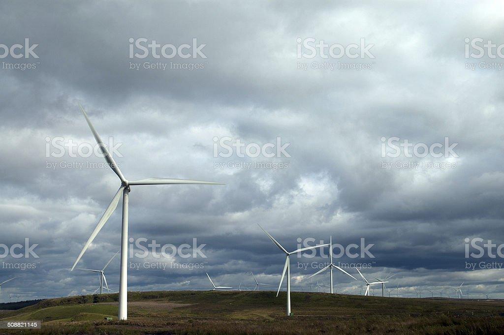 Whitelee Windfarm stock photo