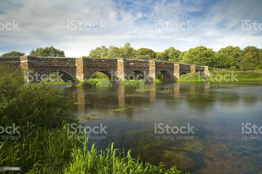 Whitemill Bridge stock photo