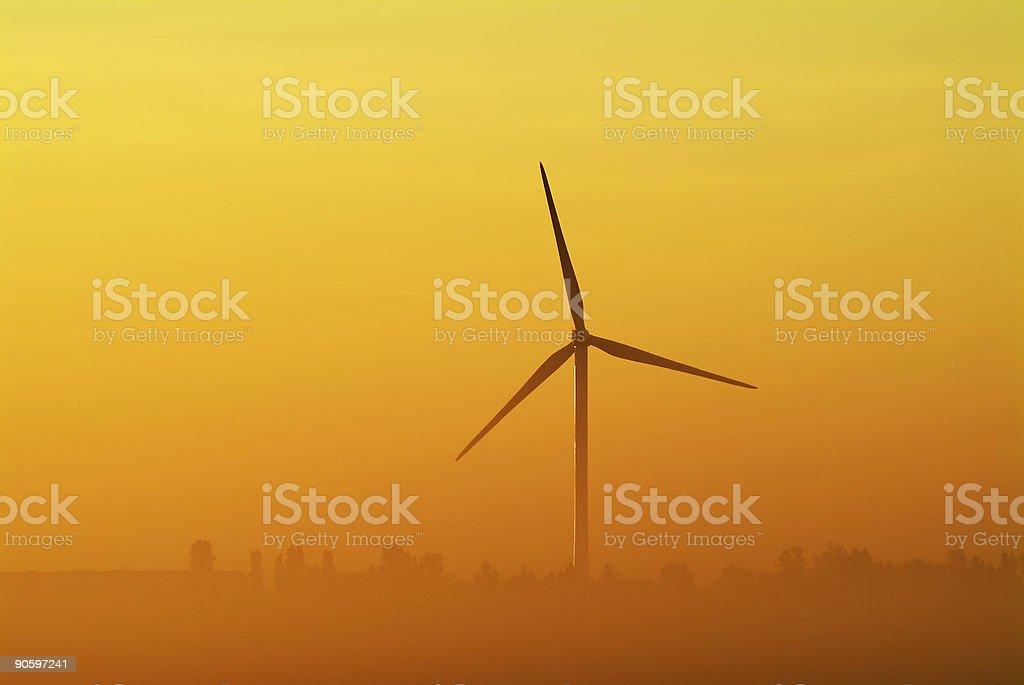 Whitemoor turbine stock photo