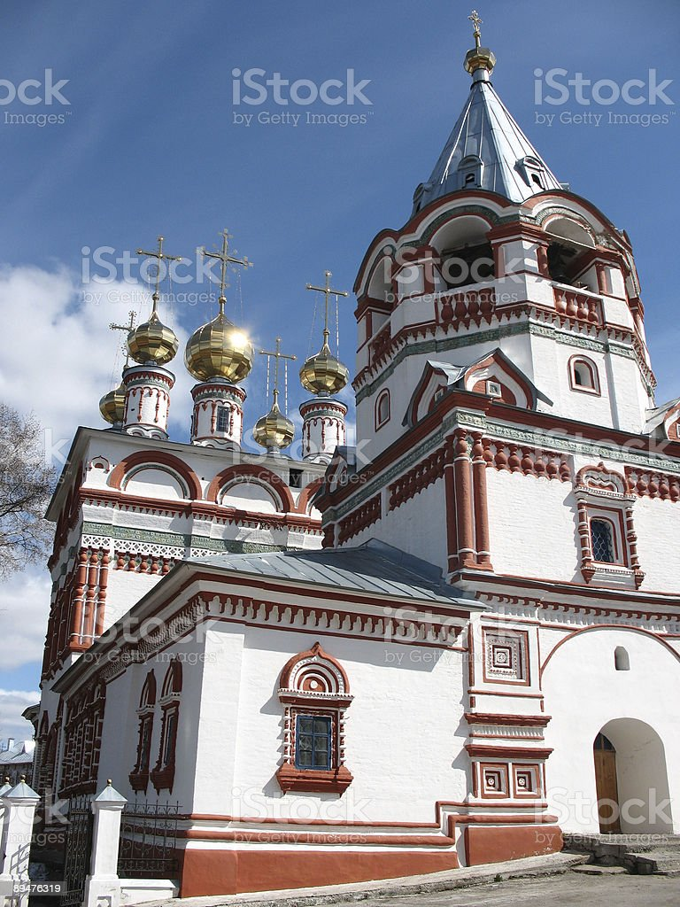 White-rock Russian church. royalty-free stock photo
