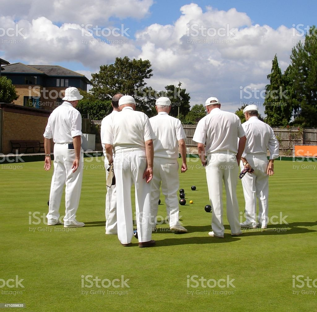 White's game of lawn bowls stock photo