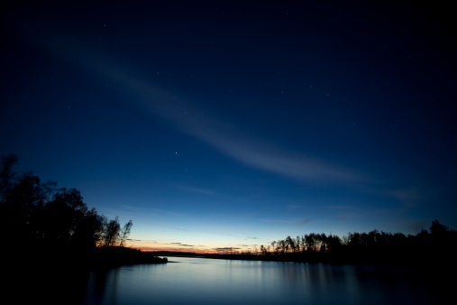Image taken at Whiteshell Provincial Park, Manitoba, Canada. Low ISO, Long exposure. Small Dipper Constellation pouring in to the lake.
