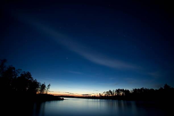 Whiteshell Provincial Park at sunset  stock photo