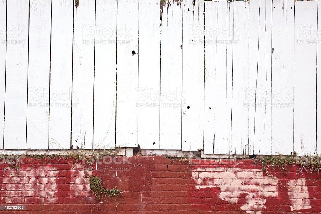 Whitewash Fence stock photo