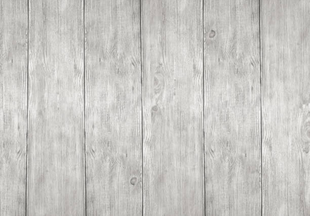 Whitewash Rustic Wooden Planks Textured Background Stock Photo