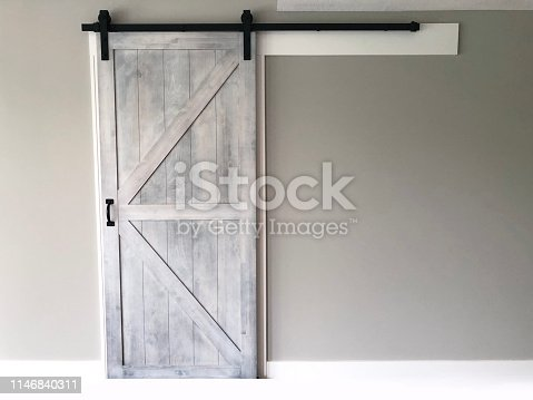 Whitewashed Barn Door