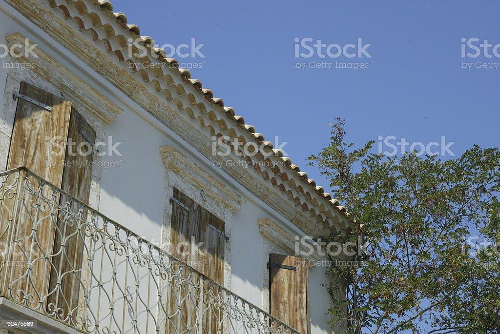 Whitewashed Building Kephalonia royalty-free stock photo