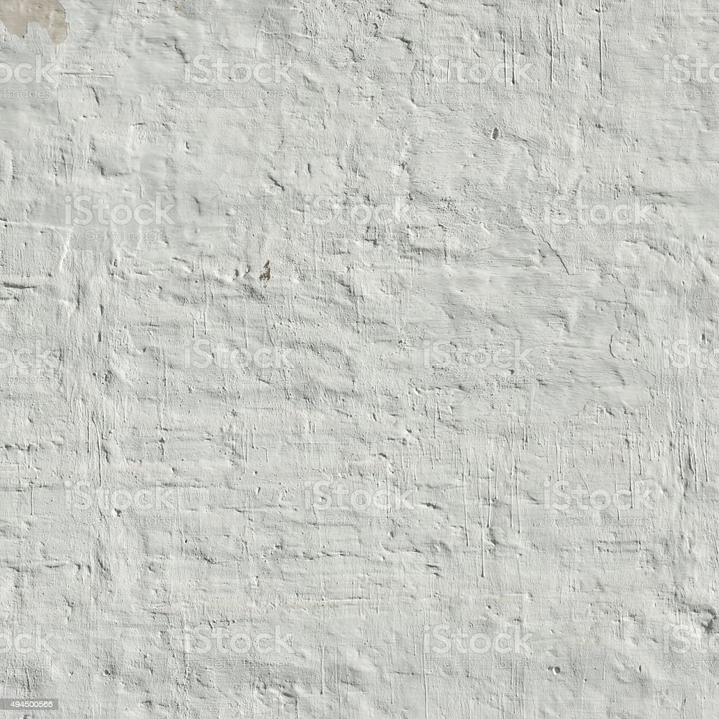 Whitewashed Retro Brick Wall Uneven Bumpy Rough Rustic Backgroun Royalty Free Stock Photo