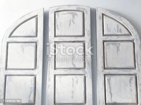 whitewashed wood panels