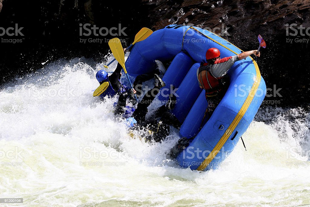 Whitewater Boating  6 royalty-free stock photo