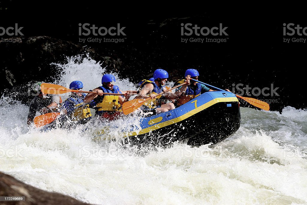 Whitewater Boating stock photo