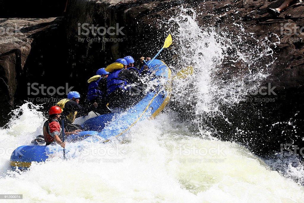 Whitewater Boating royalty-free stock photo