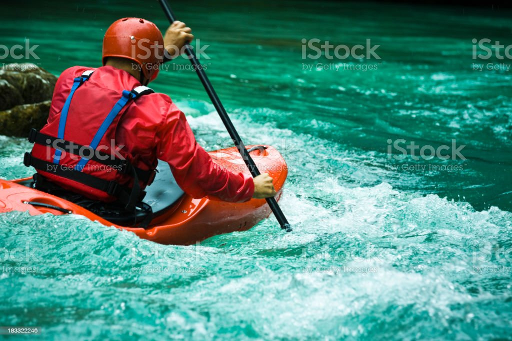 whitewater cayaking royalty-free stock photo
