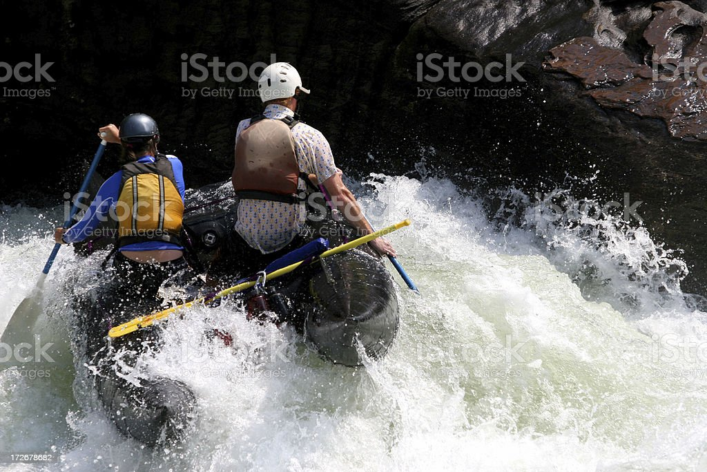 Whitewater Challenge stock photo