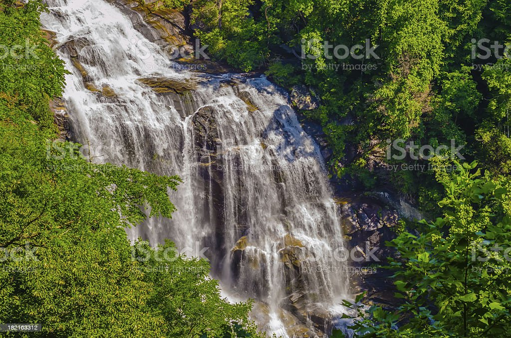 Whitewater Falls in North Carolina royalty-free stock photo